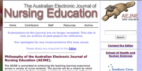 The Australian Electronic Journal of Nursing Education