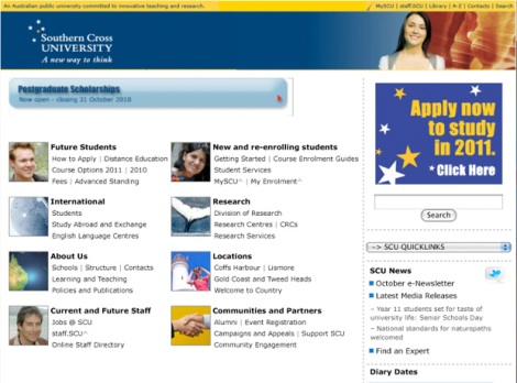 SCU Home Page 2006