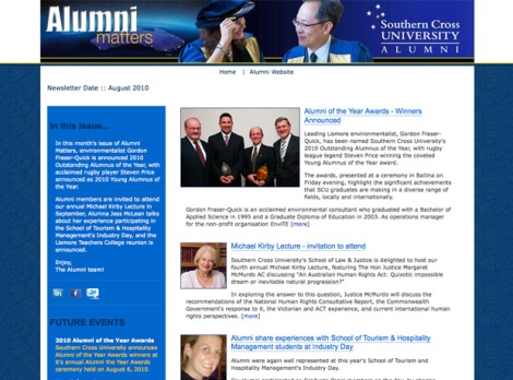 SCU Alumni eNews pre November 2010