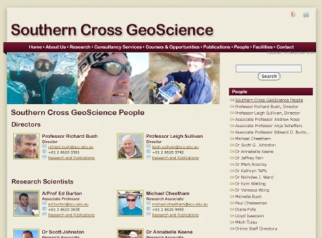 Southern Cross GeoScience sub-page - People