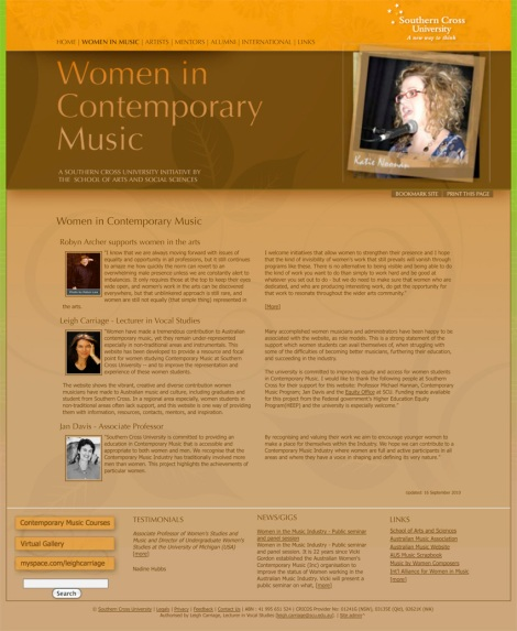 Women in Contemporary Music