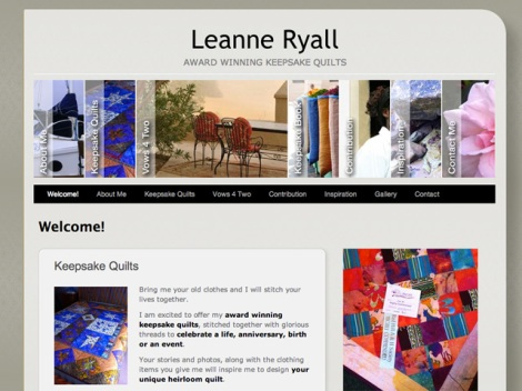 Featured - Keepsake Quilts by Leanne Ryall